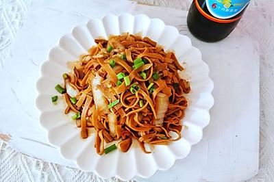 白菜炒豆腐皮