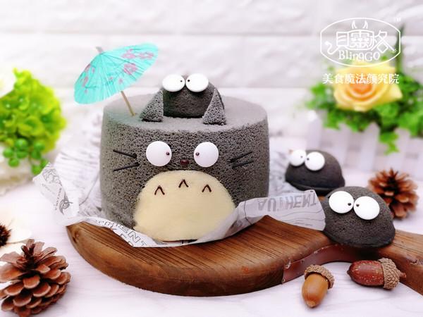 龙猫造型雪芳蛋糕/戚风蛋糕,带你找回儿时的纯真~