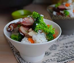 香菇腊肉焖饭的做法