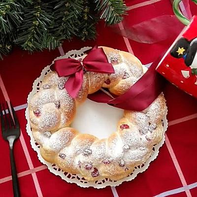 圣诞花环面包--你的圣诞甜品准备好了吗?