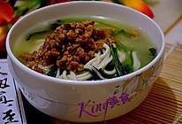 炝锅菠菜肉末面的做法