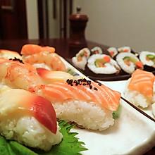 三文鱼刺身手握寿司