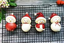 圣诞雪人卡通馒头系列(三)的做法