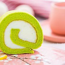 菠菜山药蛋糕卷