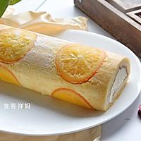 #快手又营养,我家的冬日必备菜品#美味香橙蛋糕卷的做法图解22