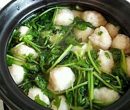 香菜鱼丸汤的做法