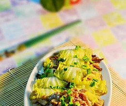 白菜卷黄花菜的做法