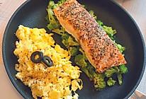 海盐罗勒烤三文鱼(无油版)的做法