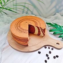 双重美味的巧克力斑马戚风蛋糕