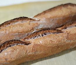 家庭烤箱法棍之六:变化法棍(南瓜法棍,可可法棍,紫薯法棍)的做法