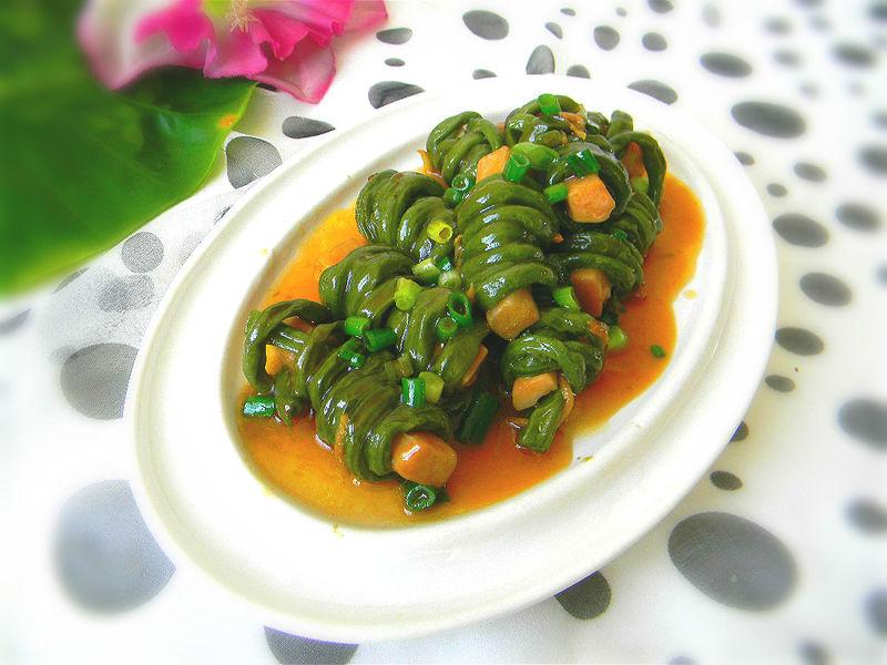 舌尖2美食——豇豆纠结白灵菇