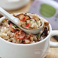香菇腊肠焖饭的做法图解7