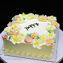裱花鲜奶油蛋糕#甜蜜厨神#