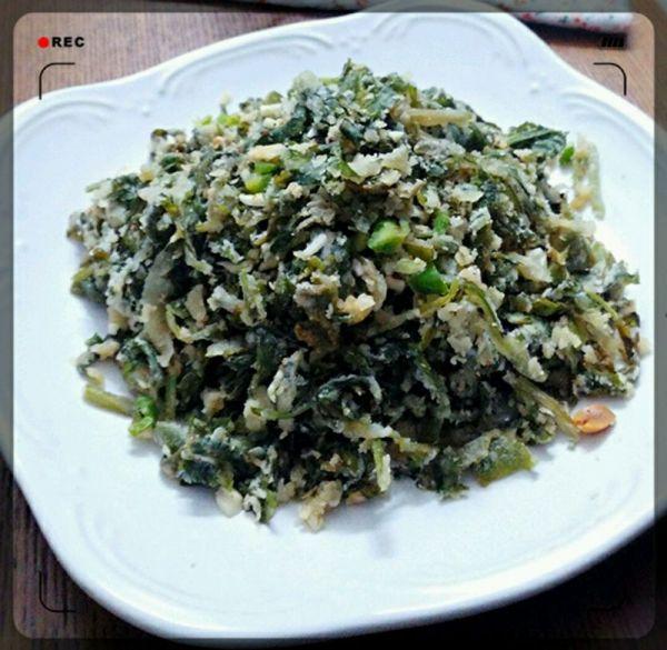 蒸菜(芹菜叶)的做法