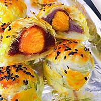 快手版&蛋黄豆沙酥的做法图解10