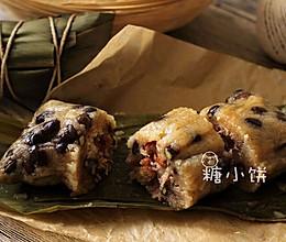 【黑豆腊肠枕头粽】极简单的枕头形包法 的做法