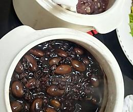 三黑粥(黑豆黑米黑芝麻)电炖锅的做法