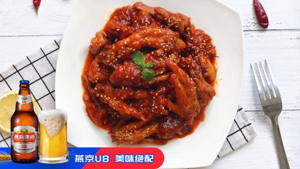 韩式火辣鸡爪的做法