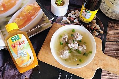 鸡汁丸子汤+太太乐鲜鸡汁芝麻香油