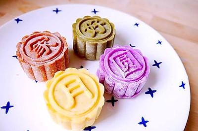 彩月当空照九州——花色冰皮月饼
