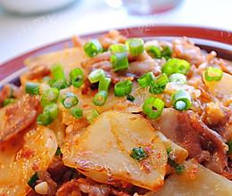 土豆片炒肉的做法