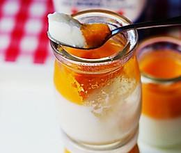 双色酸奶果冻布丁的做法