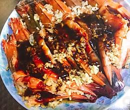蚝油蒜茸开背明虾的做法
