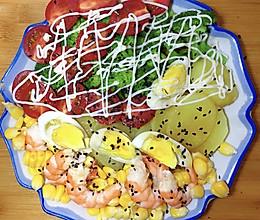 减脂蔬菜沙拉晚餐的做法