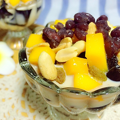 夏季甜品-龟苓膏(烧仙草味)
