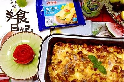 番茄鸡肉焗饭——百吉福芝士片创意晚餐菜谱