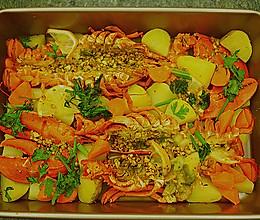 蒜香烤龙虾的做法