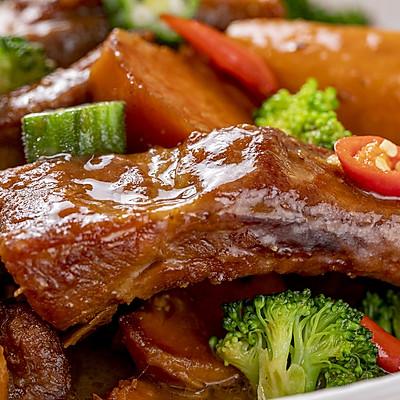 红薯炖小排   清甜软糯