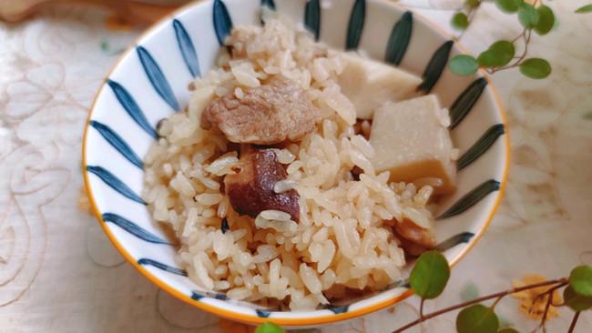 懒人电饭煲香芋焖饭的做法