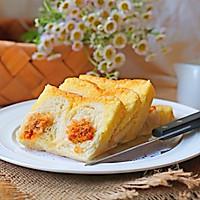 肉松奶酪蛋糕吐司#松下多面美味#