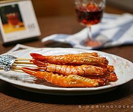 在家也能做出日料店的盐烤大虾~的做法
