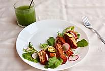 #夏日撩人滋味#减脂轻食 嫩烤鸡胸肉沙拉的做法