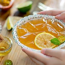 #硬核菜谱制作人#蜂蜜柠檬爱玉冻|清凉解暑