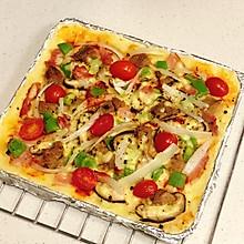 生酮|杏仁粉培根牛肉披萨(低碳水)