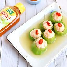#太太乐鲜鸡汁玩转健康快手菜#丝瓜酿虾滑