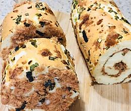 #换着花样吃早餐#葱香肉松卷的做法