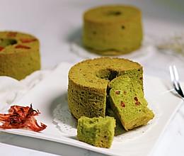 洛神花抹茶戚风蛋糕#美的烤箱菜谱#的做法