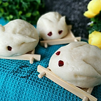 小兔子绿豆沙包的做法图解12