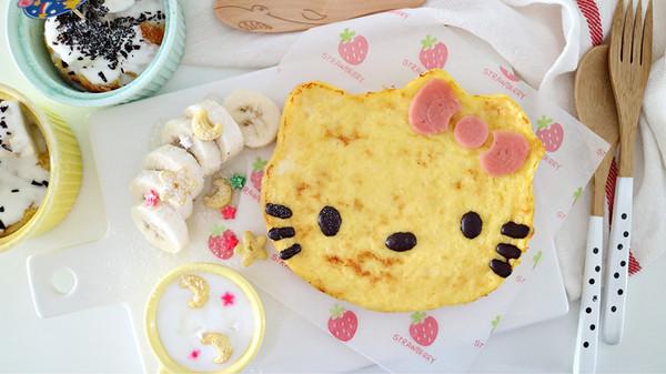 HELLO KITTY法式吐司,蛋奶香浓入口即化