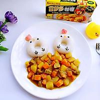 牛肉胡萝卜小鸡咖喱饭