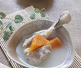 木瓜鸡爪猪骨汤的做法