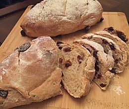全麦葡萄干面包(君之配方)——听说下雨天酵母和面粉更般配的做法