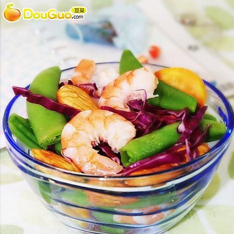 柠汁鲜虾蔬果沙拉的做法