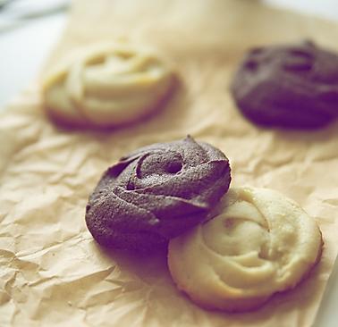 香草和巧克力曲奇/Vanilla and Chocolate的做法