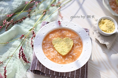娃娃菜蛋黄泥粥#柏翠辅食节-辅食添加#