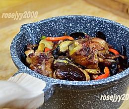 #餐桌上的春日限定#干锅冬菇木耳鸡腿的做法